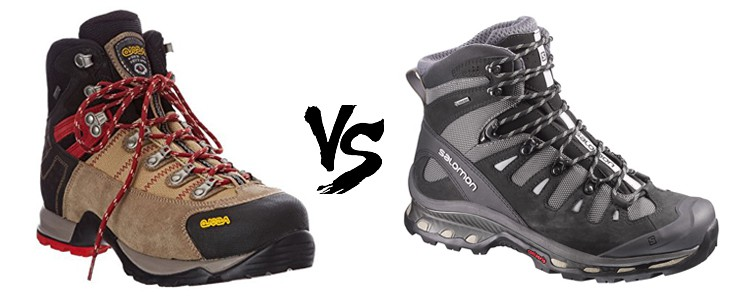asolo fugitive gtx vs salomon quest 4d gtx