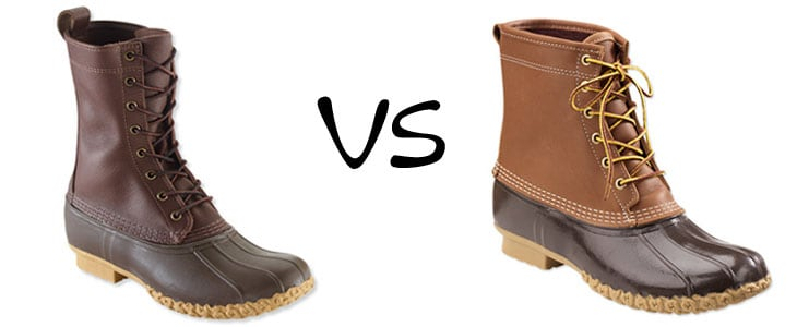 maine hunting shoe vs bean boot