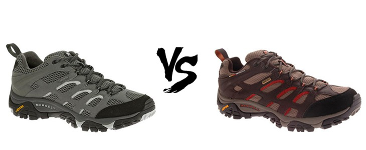 merrell moab gore tex vs waterproof