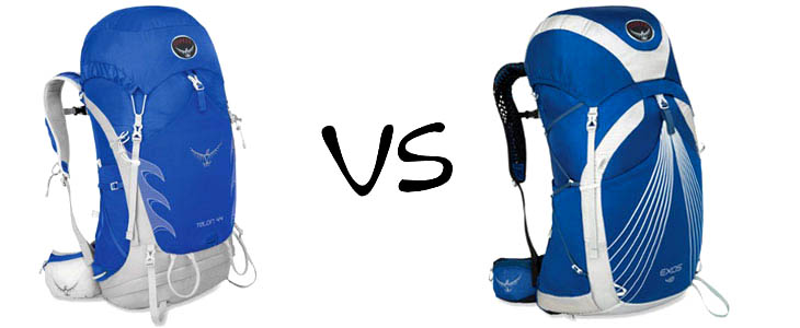 osprey talon 44 vs exos 48