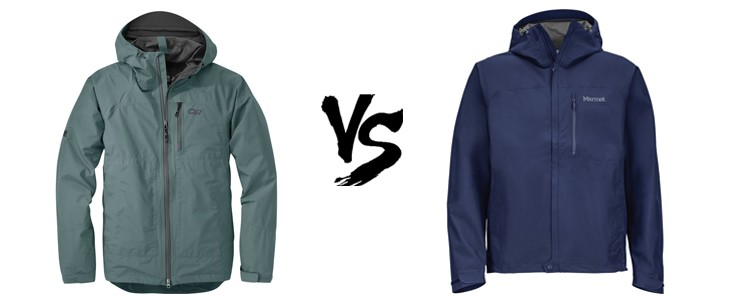 outdoor research foray vs marmot minimalist