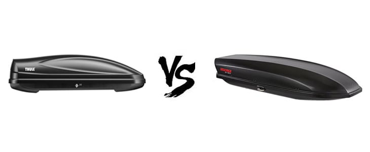 thule force vs yakima skybox rooftop car boxes